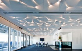 American Express Community Stadium ceilings by Parker Ceilings